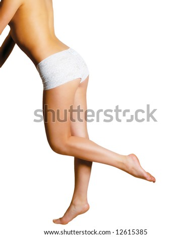 Beautiful Young Girls legs - stock photo