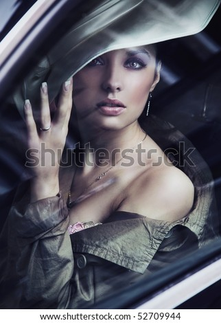Beautiful young lady - stock photo