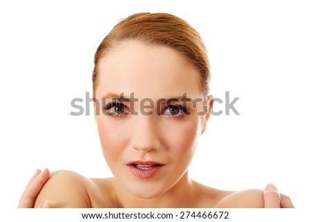 Beautiful young sensual spa woman. - stock photo