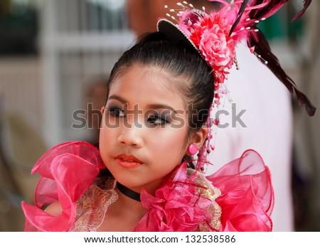 Beautiful young Thai girl - stock photo