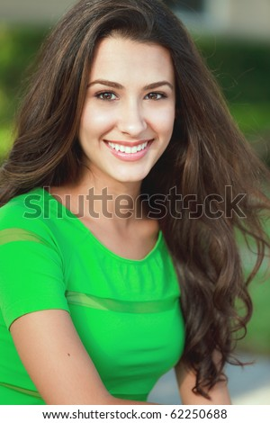 Beautiful young woman in a fashion/lifestyle pose. - stock photo