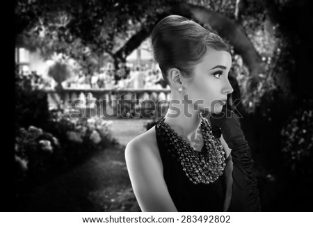 Audrey stock images royalty free images vectors for Audrey hepburn mural los angeles