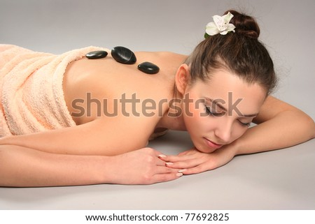 beautiful young woman in spa