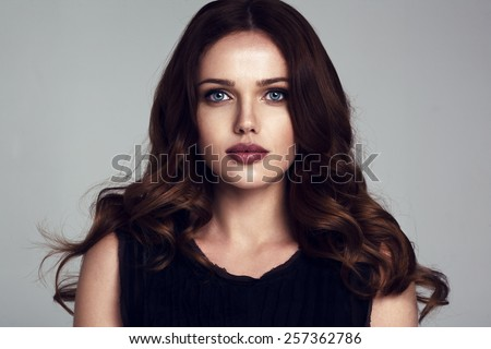 beautiful young woman portrait - stock photo
