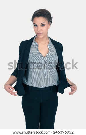 Beautiful young woman posing - stock photo