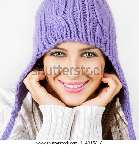 Beautiful young woman ready for winter - stock photo