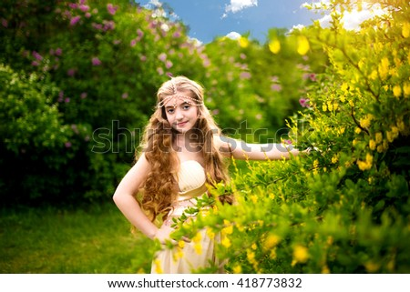 beautiful young woman smiling looking up to blue sky celebrating enjoying freedom. Positive human emotion face expression feeling life perception success, peace of mind concept. Free happy girl - stock photo