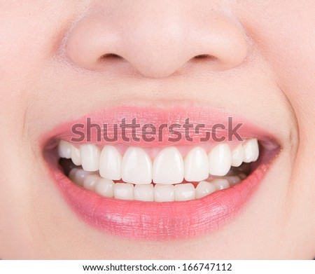 Beautiful young woman teeth