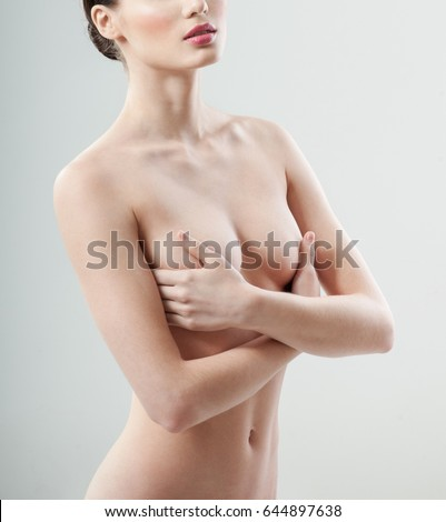 Womans body cover with breasts