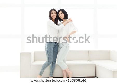 Beautiful young women. Portrait of asian. - stock photo