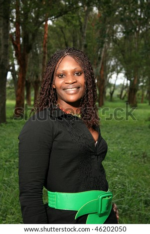Beautiful YoungAfrican Lady in Natural Setting