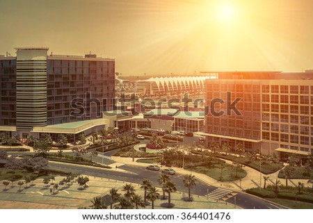 Beautifull view on Abu Dhabi. - stock photo