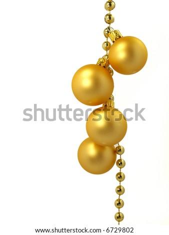 beautilful gold balls - stock photo