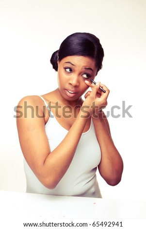 beauty african woman on white background