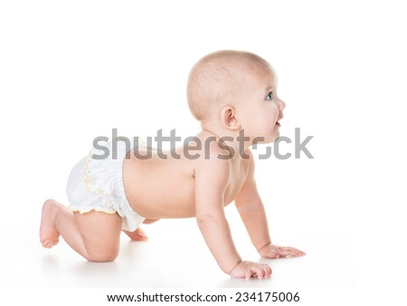 beauty baby on white background