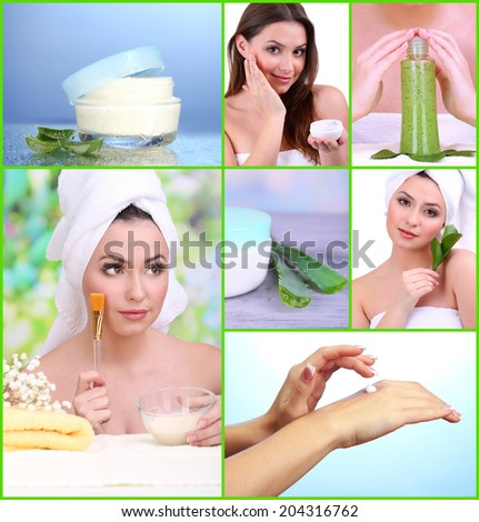 Beauty collage - stock photo