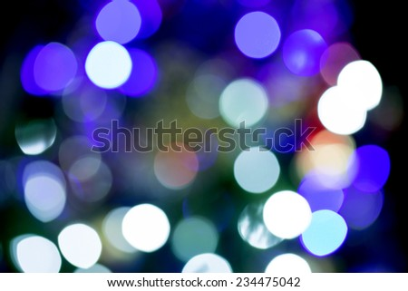 Beauty color blurred christmas lights at night - stock photo