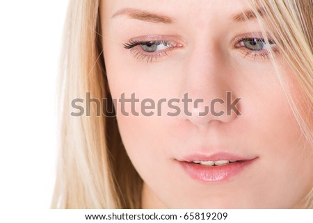 Beauty face - stock photo