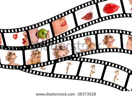 Beauty Filmstrips - stock photo