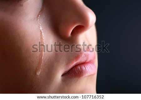 beauty girl cry - stock photo