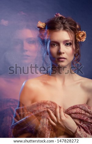 Beauty Girl.Fashion Art Woman Portrait - stock photo