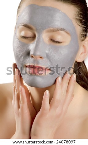 beauty mask - stock photo