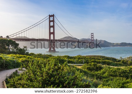 Beauty of Golden Gate Bridge, Landmark in San Francisco - stock photo