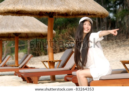 beauty on vacations - stock photo