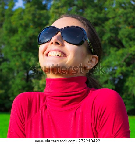 Beauty Outdoor Sunglasses  - stock photo