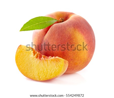 Beauty peach with leaf
