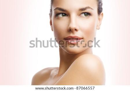 Beauty photo of an Caucasian female model - stock photo