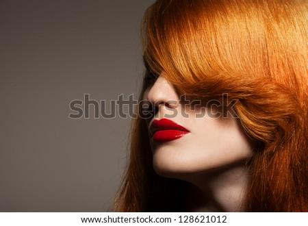 Beauty Portrait. Healthy Bright Hair - stock photo