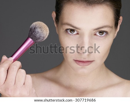 Beauty Portrait of young girl. Fresh clean skin
