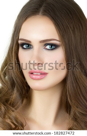 Beauty portrait of young woman - stock photo