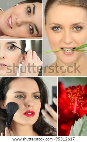 beauty portraits - stock photo