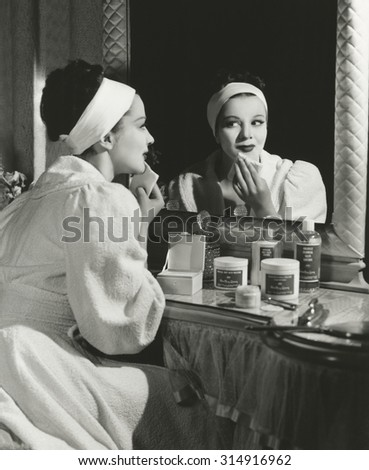 Beauty regimen - stock photo