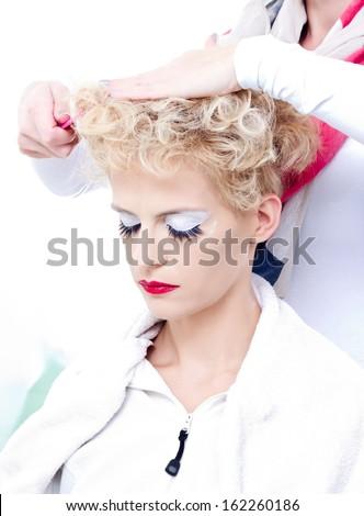 Beauty salon situation - stock photo