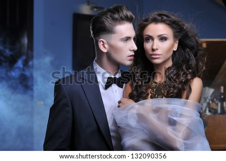 Beauty sexy couple - stock photo