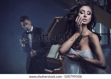 Beauty sexy woman - stock photo