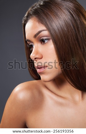 beauty shot of a young female  - stock photo