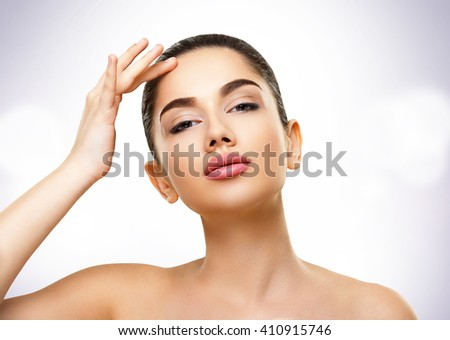 Beauty Skin Portrait. Face of Beautiful Young Woman