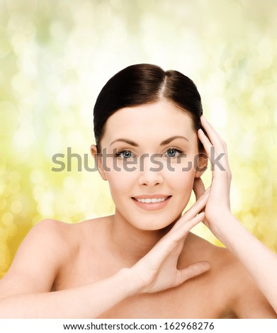 beauty, spa and health concept - smiling young woman - stock photo