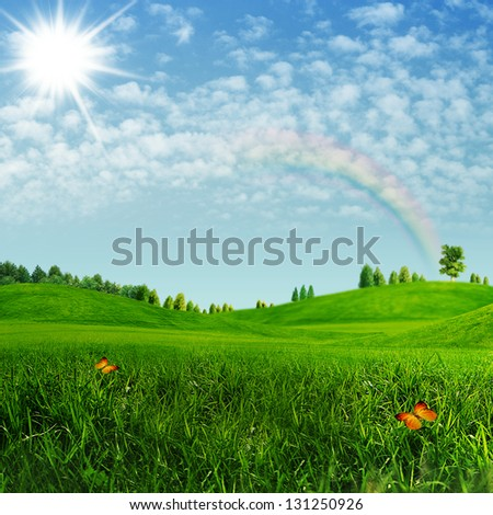 Beauty summer. Abstract environmental backgrounds - stock photo