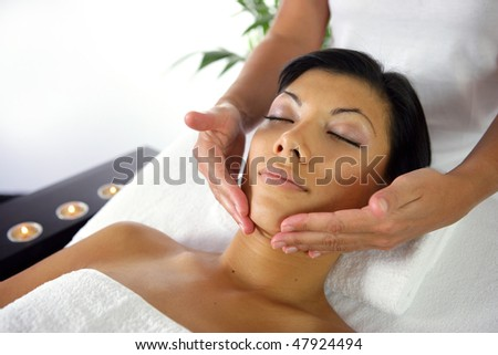 Beauty treatment - stock photo