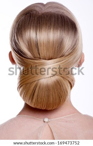 Beauty wedding hairstyle. Bride - stock photo