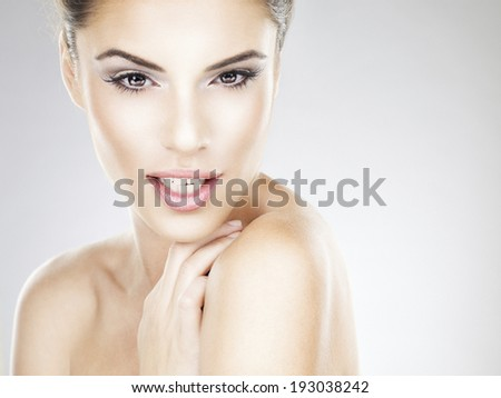 Beauty Woman. Beautiful Young Female. Healthcare. Perfect Skin. Beauty Face. - stock photo