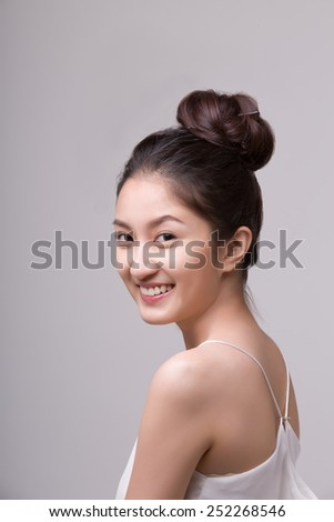 Beauty woman portrait. Skin and face care concept - stock photo
