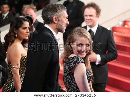 Bebe Cave  attends the 'Il Racconto Dei Racconti' Premiere during the 68th annual Cannes Film Festival on May 14, 2015 in Cannes, France. - stock photo