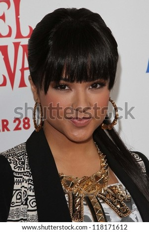 """Becky G at the """"Hotel Transylvania"""" Los Angeles Premiere, Pacific Theatres  Los Angeles, CA 09--22-12 - stock photo"""