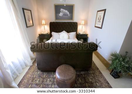 Bed and Breakfast bedroom - stock photo